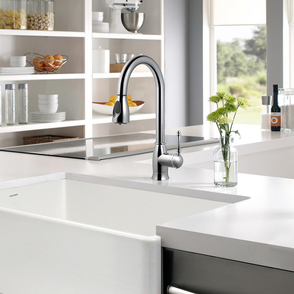 Camden Pull Down Kitchen Faucet With Ceradox Technology Houzer