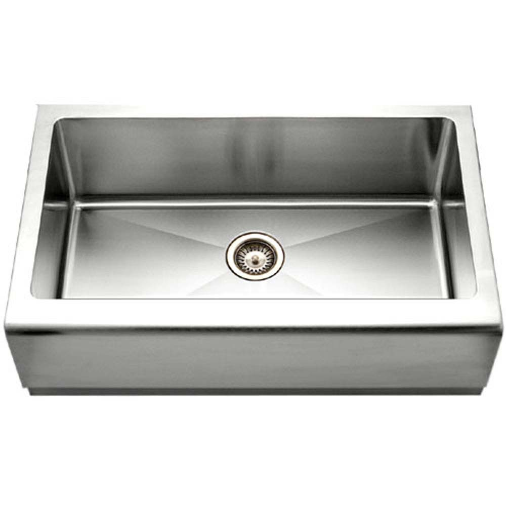 Epicure Series Apron Front Farmhouse Stainless Steel Single Bowl Kitchen Sink Houzer