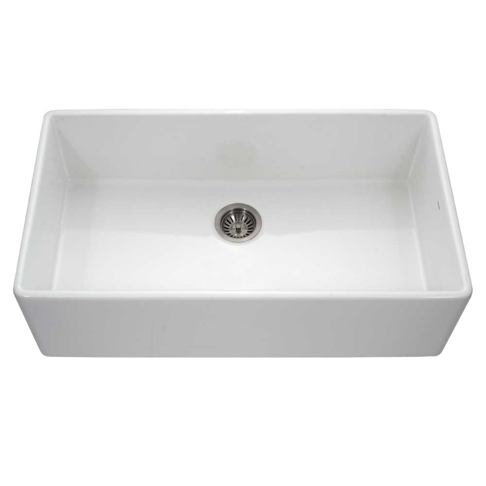 Fireclay Apron Front Or Undermount Single Bowl 36 Inch Kitchen Sink Houzer