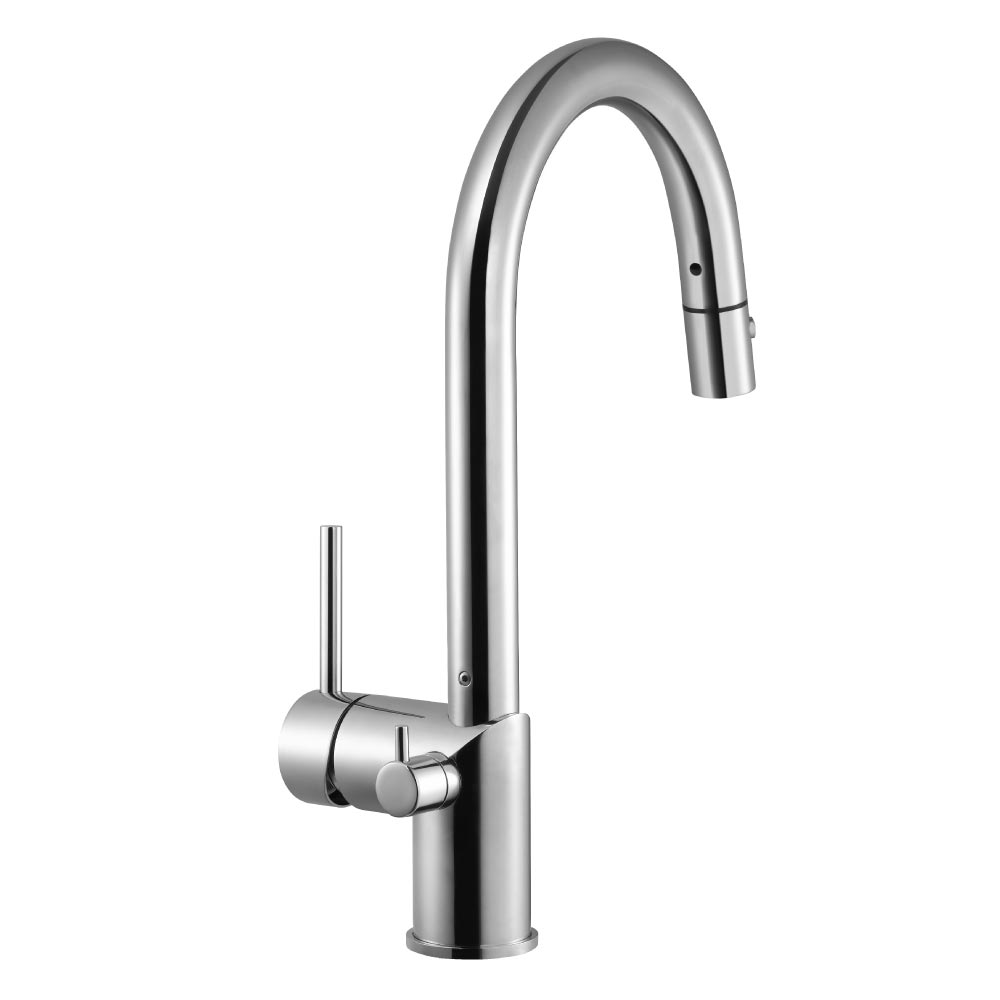 Sentinel Pull Down Kitchen Faucet With Hot Water Safety Switch Houzer