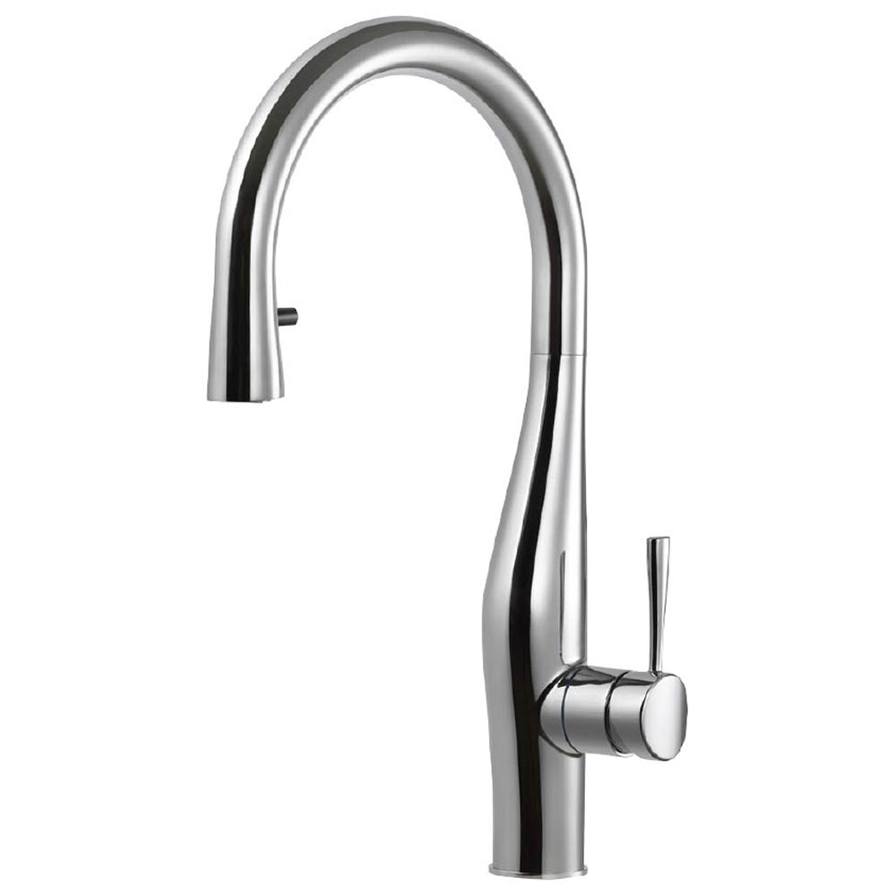 Vision Hidden Pull Down Kitchen Faucet With Ceradox Technology Houzer